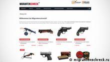 Screenshot Webseite Migrantenschreck.ru