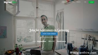 Screenshot migranthire.com
