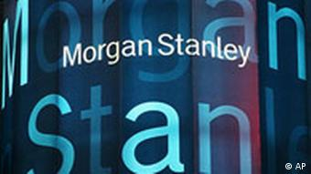 Börsenticker am Sitz von Morgan Stanley in New York. (AP Photo)