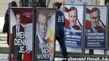 Österreich Präsidenschaftswahlen Wahlplakate