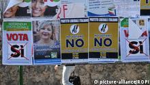 December 1, 2016 Italy, Palermo - December 1, 2016 VOTE NO VOTE YES Political posters ahead of the Italian Referendum on constitutional reform set for December 4, 2016   Keine Weitergabe an Wiederverkäufer.