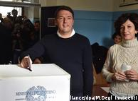 Маттео Ренці з дружиною голосують на референдумі