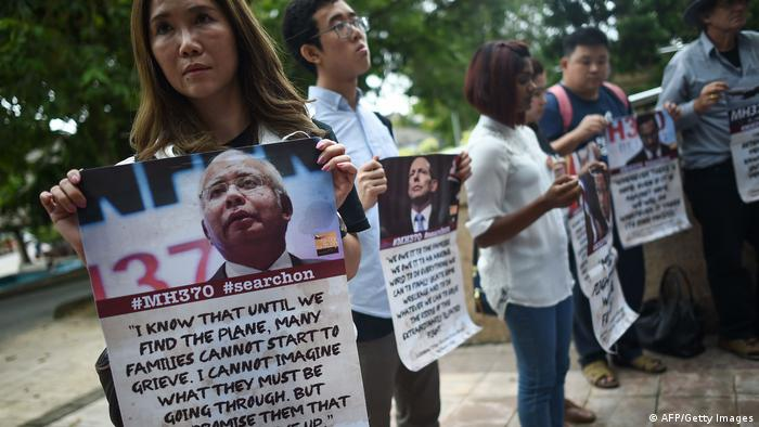 Malaysia Airlines MH370 Demonstration in Kuala Lumpur (AFP/Getty Images)