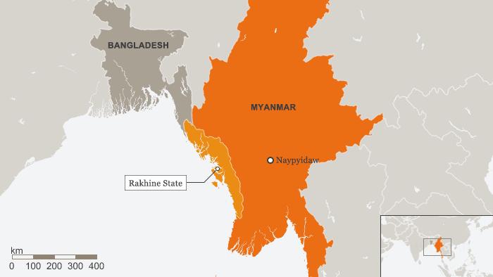 Karte Myanmar, Rakhine State
