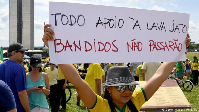 Protestos contra a corrupção em Brasília