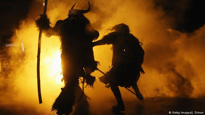 Tyrol in Austria has seen the founding of numerous village Krampus associations with up to 100 members each in the last few decades. In a rather modern approach to the tradition, the parade takes place without St. Nicholas throughout November and early December.