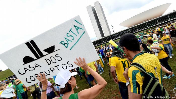 Protesto contra a corrupção em Brasília, em dezembro de 2016