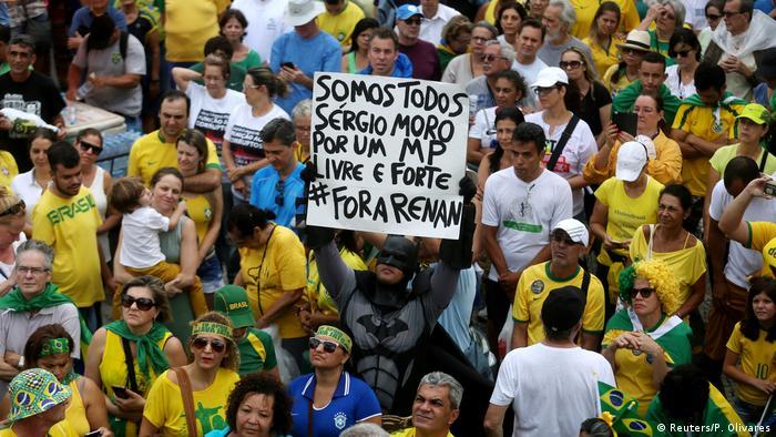Protesto contra a corrupção no Rio de Janeiro