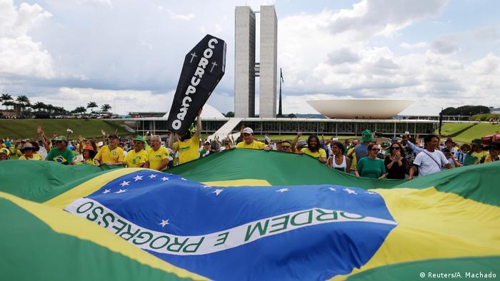 protesto contra corrupção em Brasília, em dezembro de 2016