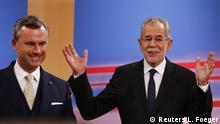 Österreich Präsidentschaftswahlen Alexander Van der Bellen und Norbert Hofer