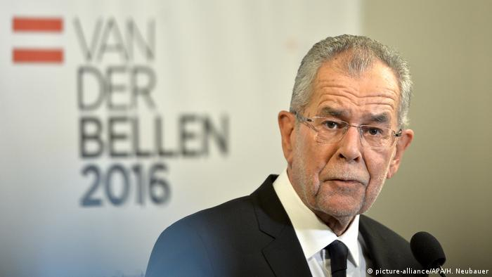 Österreich Präsidentschaftswahlen Alexander Van der Bellen (picture-alliance/APA/H. Neubauer)