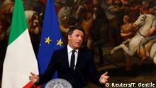 05.12.2016+++Rom, Italien Italian Prime Minister Matteo Renzi speaks during a media conference after a referendum on constitutional reform at Chigi palace in Rome, Italy, December 5, 2016. REUTERS/Tony Gentile TPX IMAGES OF THE DAY