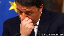 Italien | Ministerpräsident Matteo Renzi kündigt nach gescheitertem Referendum seinen Rücktritt an