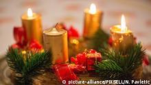 Adventskranz mit drei brennenden Kerzen, Foto: picture-alliance/PIXSELL/N. Pavletic