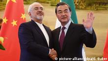 China Iran Mohammad Javad Zarif und Wang Yi in Peking