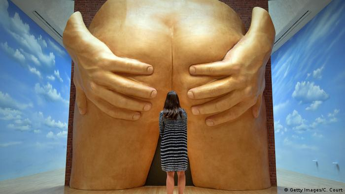 Anthea Hamilton's male backside installation (Getty Images/C. Court)
