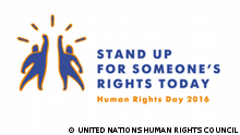 Logo von der Aktion Stand up for someone's rights today