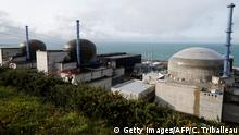 This picture taken in Flamanville, northwestern France on November 16, 2016, shows the construction site of the European Pressurised Reactor project (EPR). Finnish utility TVO said on November 16, 2016, it was alarmed by the French nuclear industry's restructuring plans after France's Areva, which is building its troubled nuclear reactor, the same kind than the Flamanville's one, confirmed the sale of its reactor business. / AFP / CHARLY TRIBALLEAU (Photo credit should read CHARLY TRIBALLEAU/AFP/Getty Images)