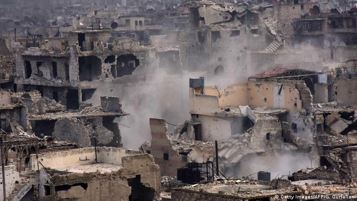Руины в окрестностях Алеппо
