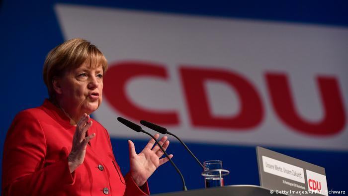 Ангела Меркель на съезде ХДС