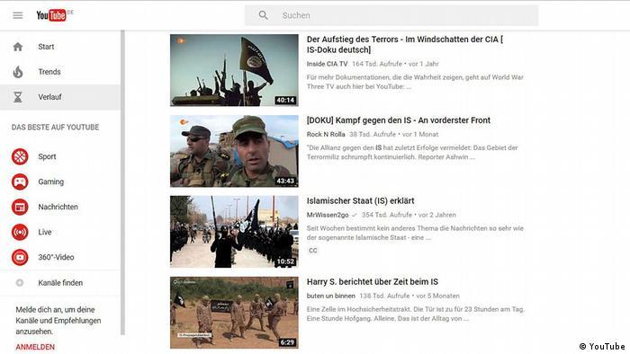 Screenshot YouTube Videos IS