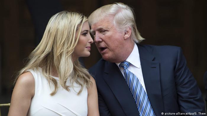 Donald Trump mit seiner Tochter Ivanka Trump (picture-alliance/dpa/S. Thew)