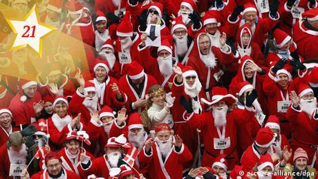 21_Weihnachtsmannlauf (picture-alliance/dpa)