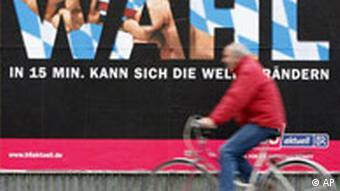 Deutschland Wahlen in Bayern Plakat in München