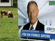 Προεκλογική αφίσα του Βαυαρού πρωθυπουργού Μπεκστάιν