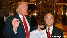 USA Donald Trump und Masayoshi Son