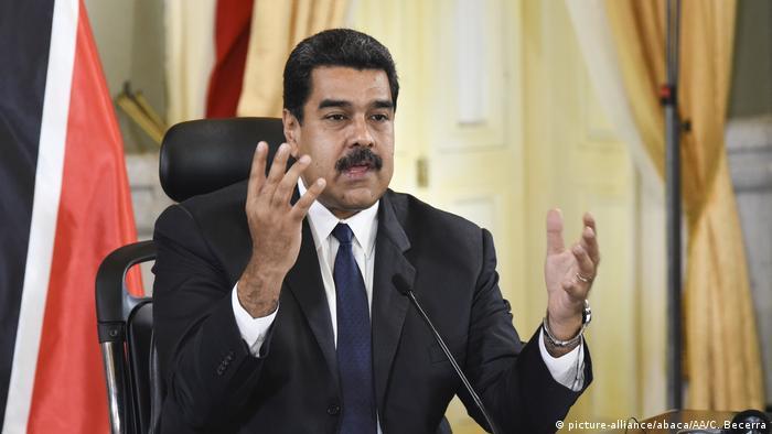 Venzuela Nicolas Maduro (picture-alliance/abaca/AA/C. Becerra)
