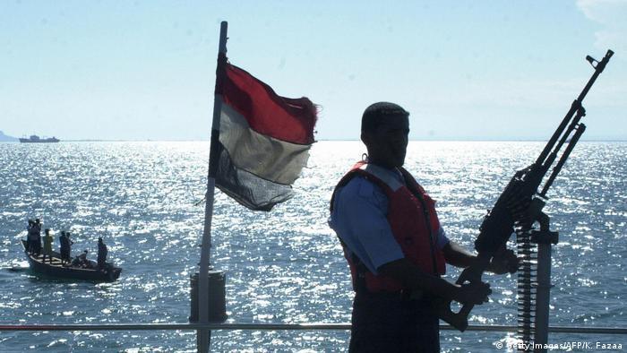 Symbolbild Jemen Küstenwache (Getty Images/AFP/K. Fazaa)