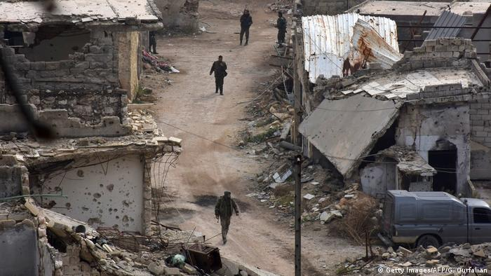 Сирийские правительственные войска в Алеппо