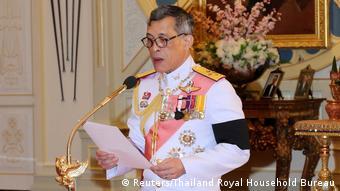 Thailand's new King Maha Vajiralongkorn Bodindradebayavarangkun speaks as he accepts an invitation from parliament to succeed his father, King Bhumibol Thailand Thailand - König Maha Vajiralongkorn (Reuters/Thailand Royal Household Bureau)