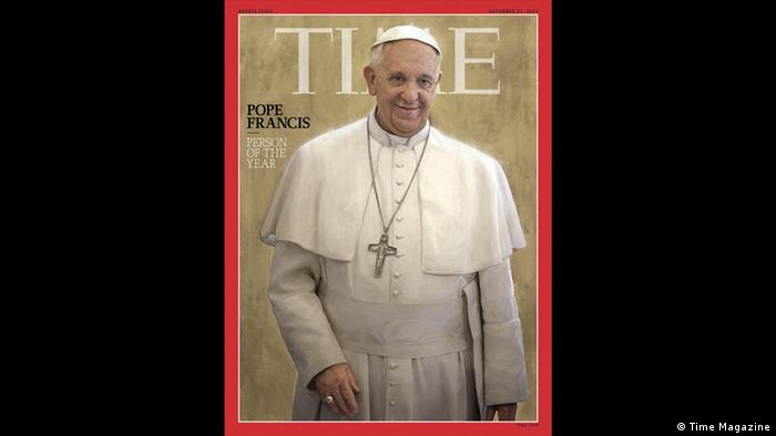 Time's Person of the Year cover image Pabst Franziskus (Time Magazine)
