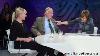 AfD-Politician Alexander Gauland on the popular German talk show maybrit illner