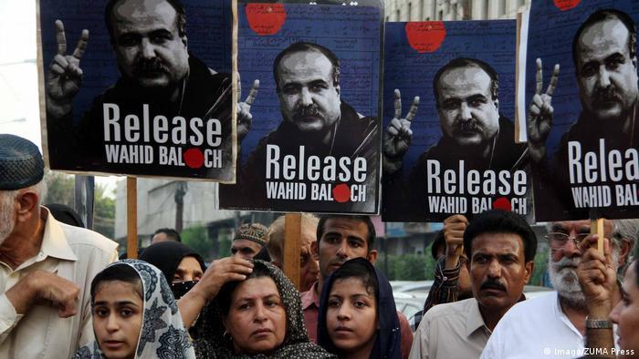 Pakistan Karatschi Wahid Balouch Solidaritätskundgebung (Imago/ZUMA Press)