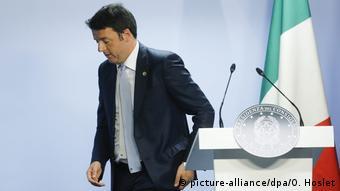 O παραιτηθείς πρωθυπουργός Ματέο Ρέντσι