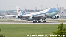 Air Force One Abflug in München 2015