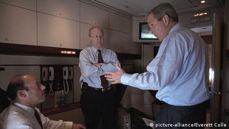 USA Air Force One Präsident George W. Bush am 11. September 2001 (picture-alliance/Everett Colle)