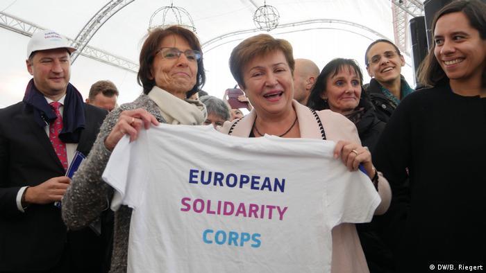 Europäische Freiwillige T-Shirt (DW/B. Riegert)