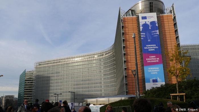 Europäischer Freiwilligendienst Berlaymont-Gebäudes (DW/B. Riegert)