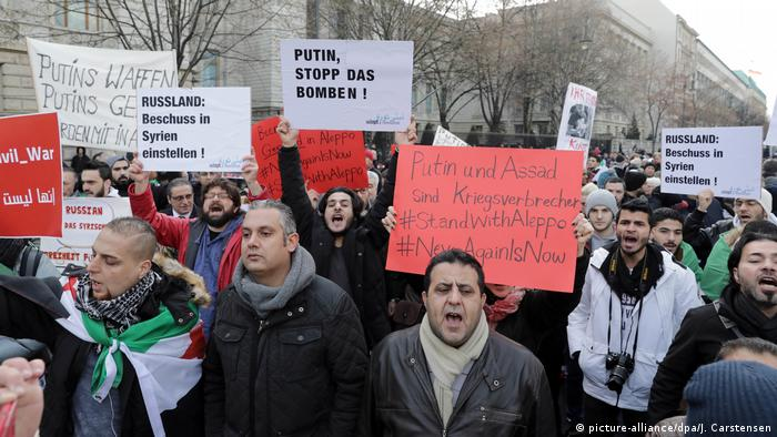 Berlin Protest against bombing of Aleppo