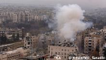 Aleppo Syrien Rauchwolke