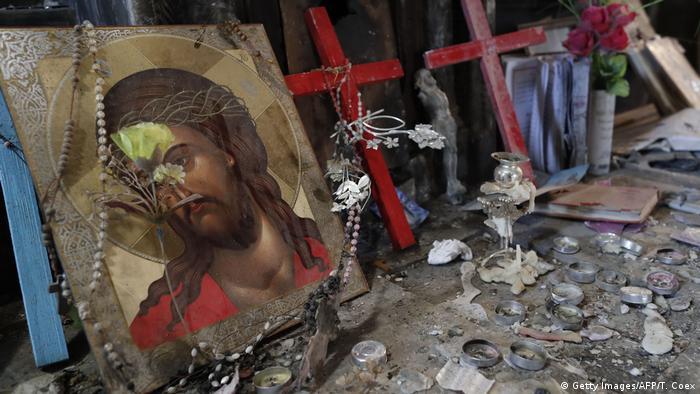 Irak Karakosch al-Hamdaniya Zerstörte Kirche