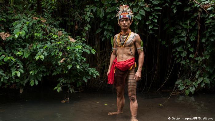 Mentawai Inseln Volk Ureinwohner Tattoo (Getty Images/AFP/S. Wibowo)