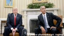 Washington White House Trump bei Barack Obama