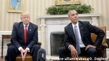 Washington White House Trump bei Barack Obama (picture-alliance/abaca/O. Douliery)