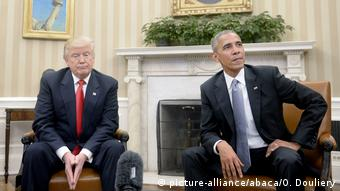 Washington White House Trump bei Barack Obama (picture-alliance/abaca/O. Douliery)