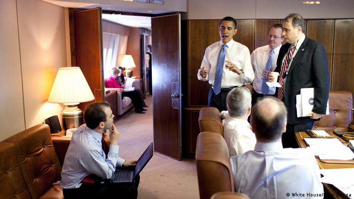 USA Präsident Barack Obama an Bord der Air Force One (White House/Pete Souza)